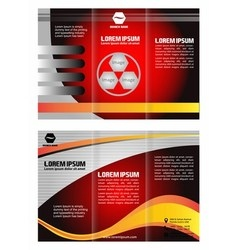 Professional business three fold flyer template vector
