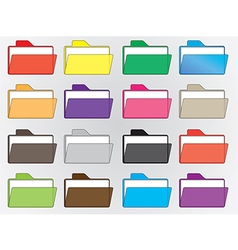 Colored file folders vector