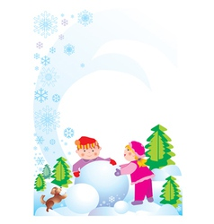 Holliday children vector