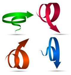 Set of spiral arrows vector