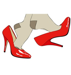 Shoes fashion and sensuality of womens clothing vector