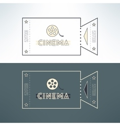 Entry cinema ticket in modern flat design vector