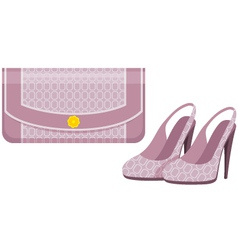 Female bag and shoes vector