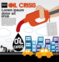 Oil crisis concept eps10 vector