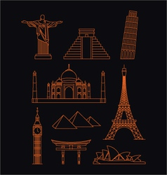 World landmarks vector