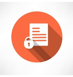 Protected document icon vector