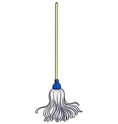 Old fashioned mop vector