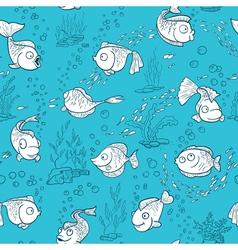 Fish seamless vector