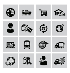 Logistic and shipping icon vector