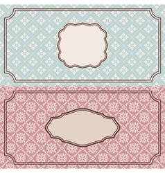 Floral retro frames vector