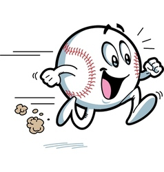 Happy running baseball vector