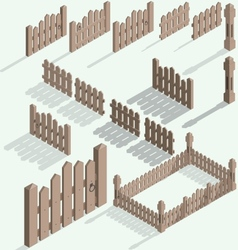 Isometric fence vector