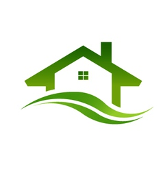 Green house real estate logo image vector