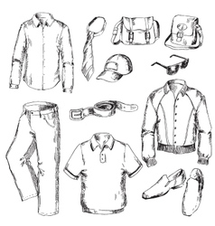 Set of clothes for men vector