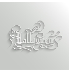 Halloween lettering greeting card vector