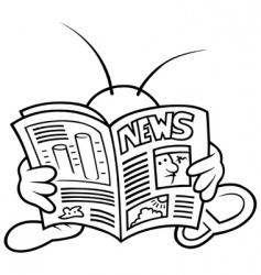 Bug and newspaper vector