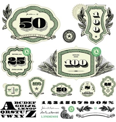 Money and numbers set vector
