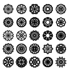 Round ornament set vector