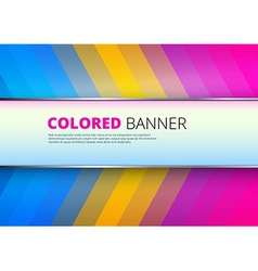 Rainbow background with banner place vector