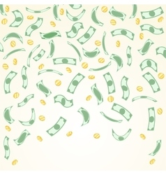 Background with money falling from above vector
