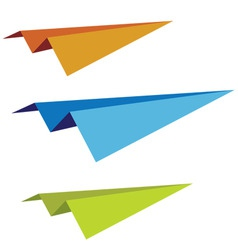 Set of paper planes vector