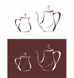 Coffee pot and milk jug vector