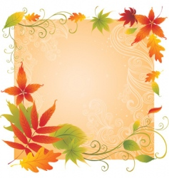 Background with colorful autumn leaves vector