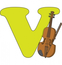 V is for violin vector