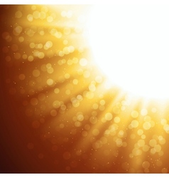Abstract gold magic light background vector