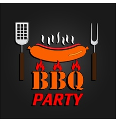Bbq design card  eps 10 vector