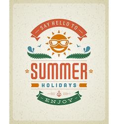 Retro summer design poster vector