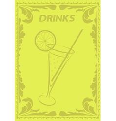 Drinks menu vector