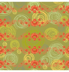 Floral background pattern vector
