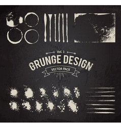 Dirty grunge elements set vector