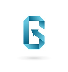 Letter g arrow mobile phone app logo icon design vector