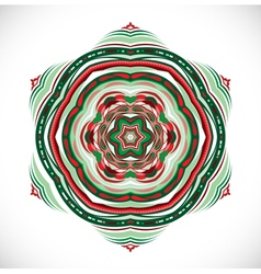 Colorful ornament snowflake vector