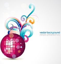 Stylish disco ball design vector