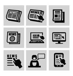 Newspaper icons vector