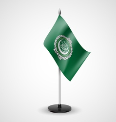 Table flag of arab league vector