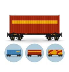 Set of icons colored the containers vector
