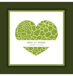 Abstract green natural texture heart symbol vector