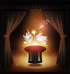 Magic trick background vector
