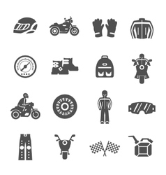 Rider icons set vector