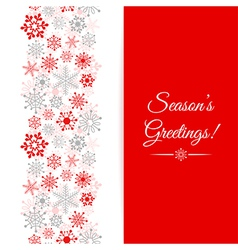 Christmas greetings card border christmas seamless vector