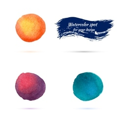 Watercolor spots for design elements vector