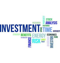 Word cloud investment vector