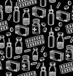 Seamless pattern background medical equipment vector