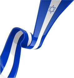 Isdrael ribbon flag vector