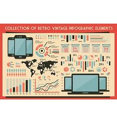 Retro set of infographic elements vector