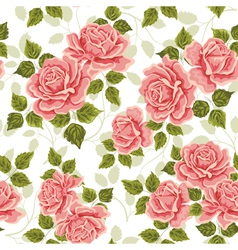Pink vintage rose pattern seamless vector